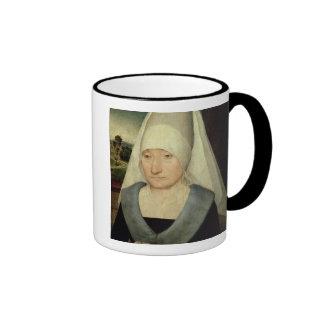 Portrait of an Old Woman (oil on panel) Ringer Mug
