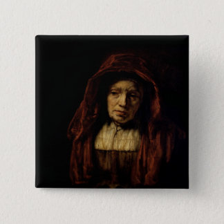 Portrait of an Old Woman Pinback Button
