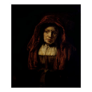 Portrait of an Old Woman Poster