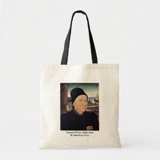 Portrait Of An Older Man By Memling Hans Tote Bag