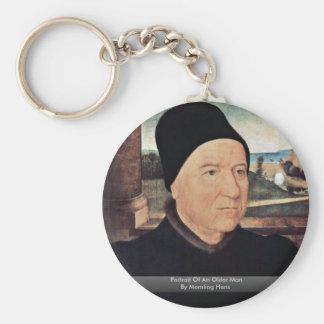 Portrait Of An Older Man By Memling Hans Key Chain