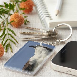 Portrait of an osprey keychain
