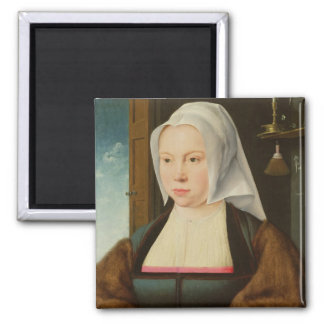 Portrait of an Unknown Lady, 1527 (oil on panel) Magnet