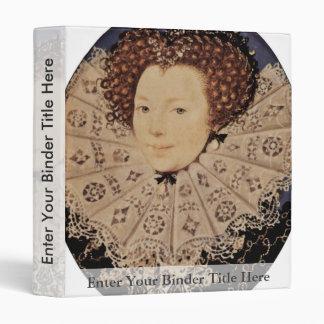 Portrait Of An Unknown Lady Oval By Nicholas Hilli Vinyl Binder