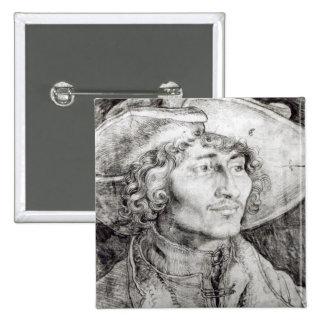 Portrait of an unknown man, 1521 pinback button