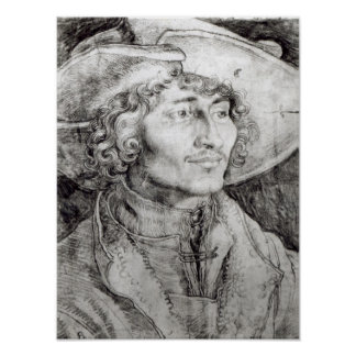 Portrait of an unknown man, 1521 poster