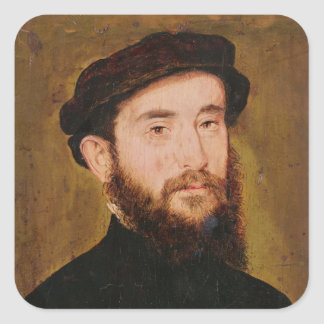 Portrait of an Unknown Man 2 Square Sticker