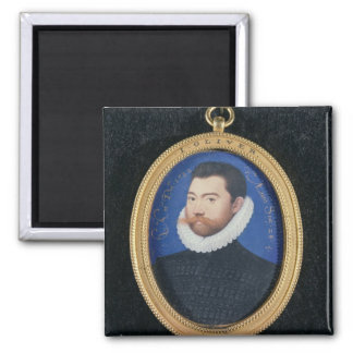 Portrait of an unknown man, aged 28, 1582 (w/c on magnet