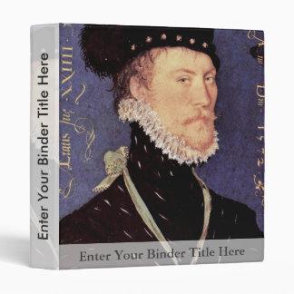 Portrait Of An Unknown Man By Hilliard Nicholas 3 Ring Binders