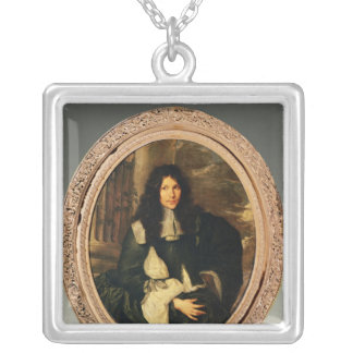 Portrait of an Unknown Man Silver Plated Necklace