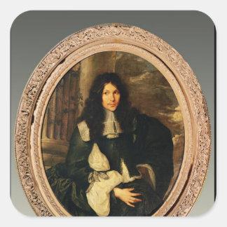 Portrait of an Unknown Man Square Sticker