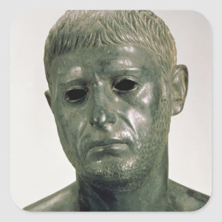 Portrait of an unknown Roman warrior, AD 30s Square Sticker