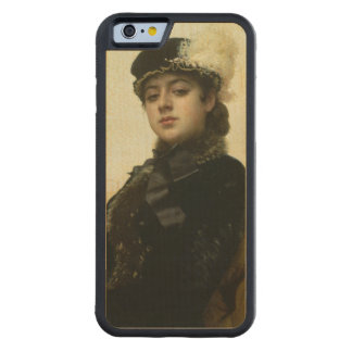 Portrait of an Unknown Woman, 1883 Carved Maple iPhone 6 Bumper Case