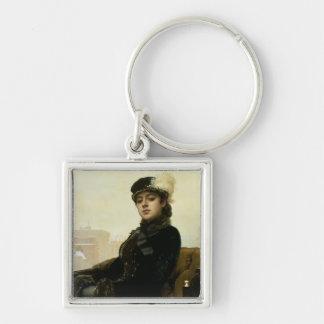 Portrait of an Unknown Woman, 1883 Keychain