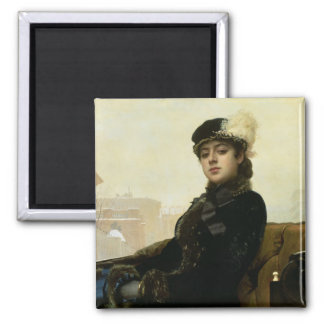 Portrait of an Unknown Woman, 1883 Magnet