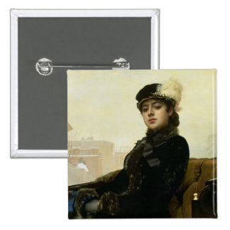 Portrait of an Unknown Woman, 1883 Pinback Button