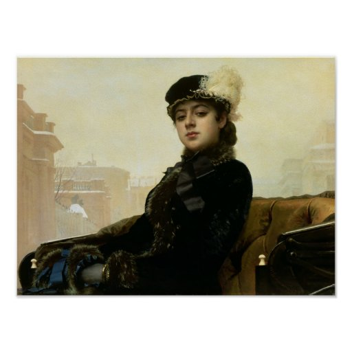 Portrait of an Unknown Woman, 1883 Poster