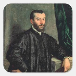 Portrait of Andrea Vesalius Square Sticker