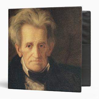 Portrait of Andrew Jackson 3 Ring Binder