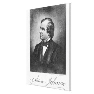 Portrait of Andrew Johnson Gallery Wrapped Canvas
