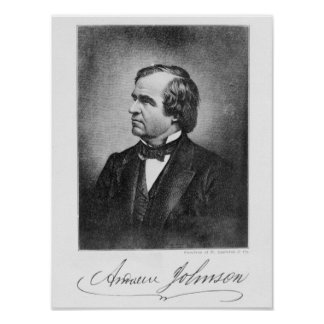 Portrait of Andrew Johnson Posters