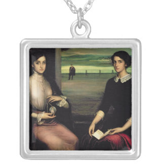 Portrait of Angeles and Fuensanta Silver Plated Necklace