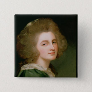 Portrait of Ann Barbara Russell Pinback Button
