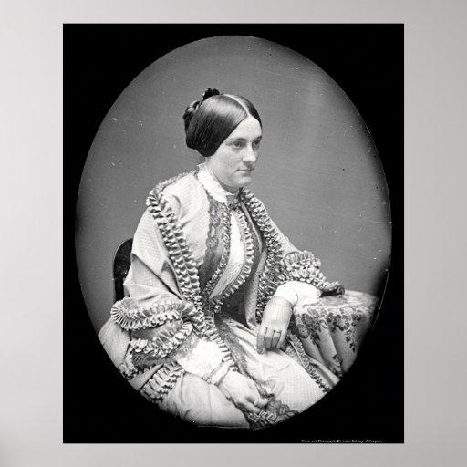 """Portrait of Ann """"Nannie"""" Macomb Daguerreotype 1850 Poster"""