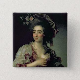 Portrait of Anna Davia-Bernucci, 1782 Pinback Button