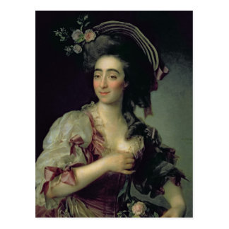 Portrait of Anna Davia-Bernucci, 1782 Postcard