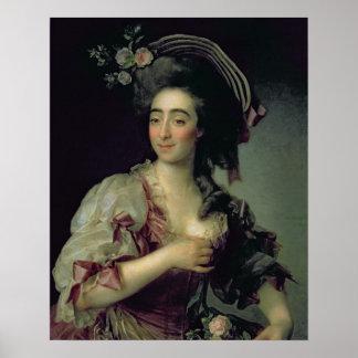 Portrait of Anna Davia-Bernucci, 1782 Poster
