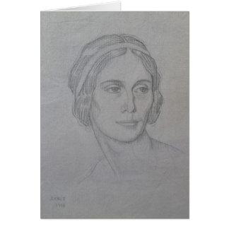 Portrait of Anna Pavlova 1908 Greeting Card