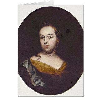 Portrait Of Anna Veronika By Wenzel Lorenz Reiner Greeting Card