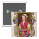 Portrait of Anne Boleyn (1507-36) 2nd Queen of Hen 2 Inch Square Button
