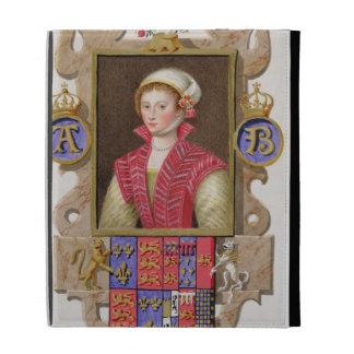 Portrait of Anne Boleyn (1507-36) 2nd Queen of Hen iPad Folio Case