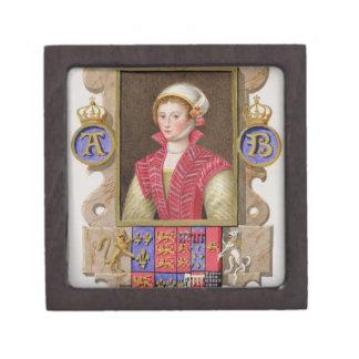Portrait of Anne Boleyn (1507-36) 2nd Queen of Hen Jewelry Box