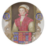 Portrait of Anne Boleyn (1507-36) 2nd Queen of Hen Party Plate