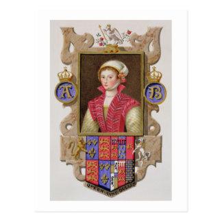 Portrait of Anne Boleyn (1507-36) 2nd Queen of Hen Postcard