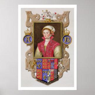 Portrait of Anne Boleyn (1507-36) 2nd Queen of Hen Poster