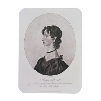 Portrait of Anne Bronte (1820-49) from a drawing i Magnet