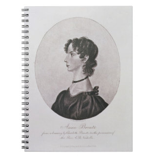 Portrait of Anne Bronte (1820-49) from a drawing i Notebook