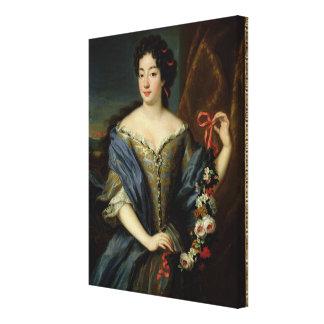 Portrait of Anne de Baviere Canvas Print
