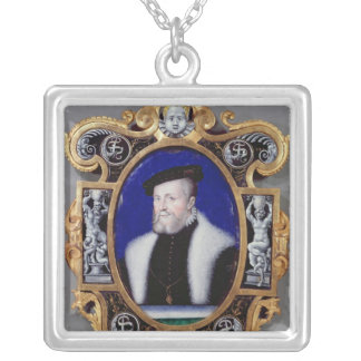 Portrait of Anne, First Duke of Montmorency Silver Plated Necklace