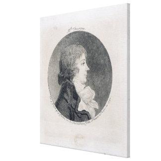 Portrait of Anne-Josephe Trewagne Canvas Print
