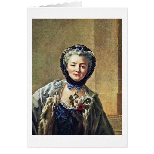 Portrait Of Anne-Marie Françoise Doré Card