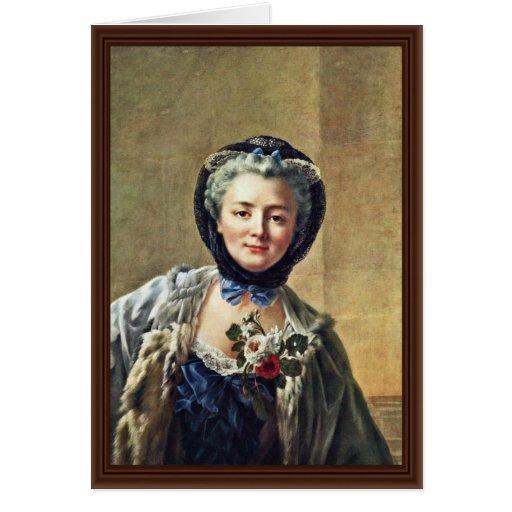 Portrait Of Anne-Marie Françoise Doré Greeting Card