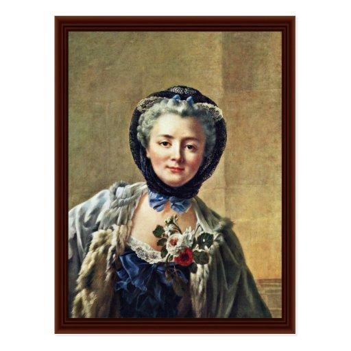 Portrait Of Anne-Marie Françoise Doré Postcard