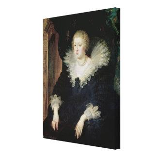 Portrait of Anne of Austria  c.1622 Canvas Print