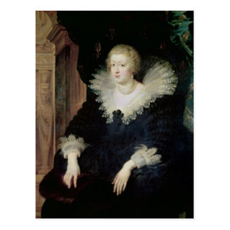 Portrait of Anne of Austria  c.1622 Postcard