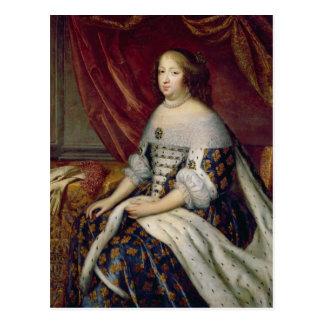 Portrait of Anne of Austria  Queen of France Postcard